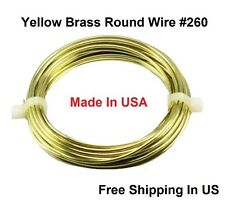 16 Ga Solid Yellow Brass Jewelry & Craft Wire SOFT ( 9 Ft. Coil / 1 Oz)  #260