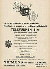 Y1126 Telefunken 31 w - Il nuovo 3 valvole - Pubblicità 1930 - Advertising