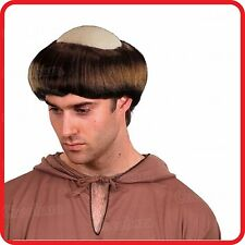 BALD BALDING WIG-MEDIEVAL TONSURE MONK FRIAR TUCK PRIEST MONASTERY-FUNNY COSTUME