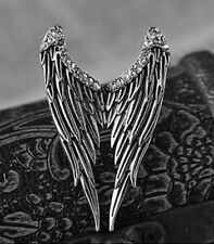 Ring Engel Flügel Silver Angel Wings Swan Gothic Lolita Strass Steampunk Kitsch