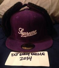 SUPREME NEW ERA CORDUROY SHERPA EAR CAP 7 5/8 PURPLE