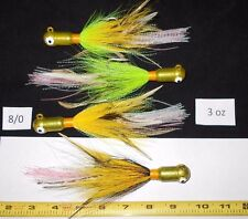 3 oz Custom Squid/ Octopus style Bucktail Jig Cobia Cod Jacks Grouper Wreck C