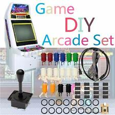 60Pcs Arcade Game MAME DIY Kit 2 Joystick 4/8 Way 16 Push Buttons For 2 Players