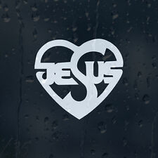 Jesus Heart Car Decal Vinyl Sticker For Window Bumper Panel