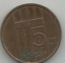 1983  netherlands 5 cent coin collectable Queen Beatrix