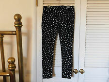 "GRAY SAKS FIFTH AVENUE JEANS ""Super Skinny Lowrise 29 Black Stretch White Stars"