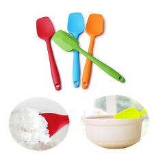 New Silicone Mixing Spoon Non-Scratch Spatula Cooking Baking Heat Resistant Tool