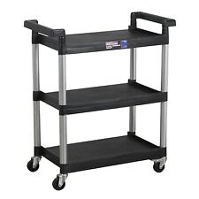 Sealey CX308 3-Level Shelf Composite Garage/Workshop/Mechanics/Work Trolley New