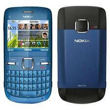 Nokia C3-00 2MP Bluetooth 3G Blue (Unlocked) Mobile Phone Grade C