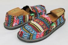 SANUK MIKA MULTI NORDIC COLOR SIDEWALK SURFER SHOES SIZE 9 US