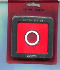 QUARTER AIRTITE 3 1/2 BY 3 1/2  PLASTIC COIN HOLDER LOT OF 10