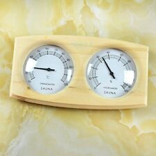 Sauna Room Thermometer Hygrometer Wood Panel