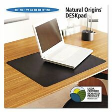 ES Robbins Natural Origins Desk Pad, 36 x 20, Matte, Black - ESR120758