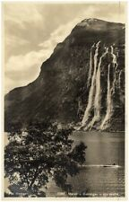 1931 Stempel BERGEN auf AK Wasserfall Waterfall Merok - Geiranger Real-Photo-Pc.
