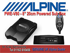 "Alpine PWE-V80 8"" 20cm Under Seat Active Amplified Subwoofer Bass Box"