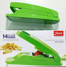 Apex 14 in 1 Nicer Dicer Vegetable Fruit Chipser Cutter Chopper Slicer