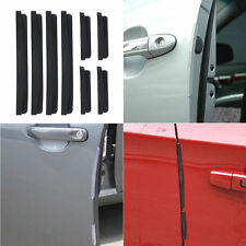 8x Black Car Door Edge Guard Trim Molding Protection Strip Scratch Protector Bar