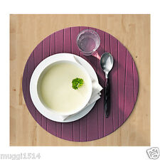 IKEA PANNA Place Mat Purple 37 cm Table Dining Party Kitchen Round