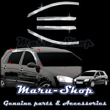 Chrome Door Window Vent Visor Deflector for 05-09 Kia Spectra5 5DR