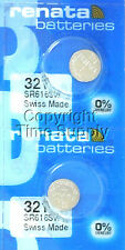 2 pcs 321 Renata Watch Batteries SR616SW SR616 0% MERCURY