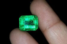 Emerald Shape Transparent 7.00 Ct Certified Natural Certified Emerald Gems