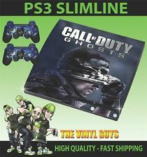 Playstation 3 Slim Ps3 Slim Cod Call Of Duty Ghosts 01 etiqueta engomada de la piel y 2 Pad Piel