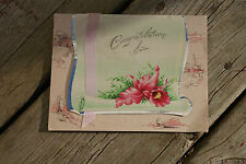 UNUSED Old Vintage Antique Greeting Card Congratulations Sis Sister Graduation