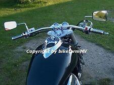 910 x Zoll CHROM Lenker DRAG BAR Motorrad TÜV ABE Chopper Streetfighter Super Bi