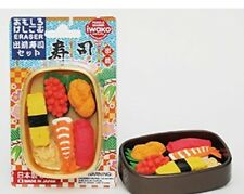 Iwako Sushi Japanese Erasers in Bento Box Set (Black box)