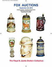 Stein Auction Catalog Mettlach Swiss wood Vienna Regimental Glass Stoneware HR
