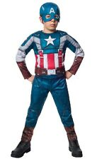 Boy DELUXE CAPTAIN AMERICA Retro Costume Child Small 4 5 6 Marvel Winter Soldier