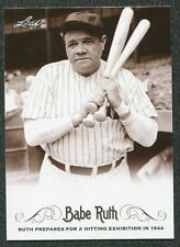 2016 Leaf Babe Ruth Collection #13 Prepares for Hitting Exhibition 1944