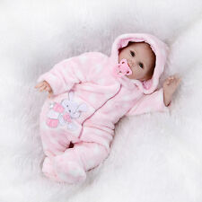 "22""Lifelike Reborn Baby Doll Soft Vinyl Real Life Newborn Baby Doll/pink clothes"