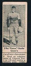 1925 Dominion Chocolate Sports Card #2 Roy PeeWee Chantler (Rugby)