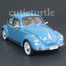 Welly 22436 VW Volkswagen Beetle 1:24 Diecast Light Blue with Beige Wheels