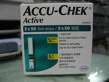 Accu Chek Active 100 Test Strips - Genuine - Expiry 30 June 2017