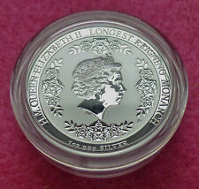 2015 AUSTRALIA LONGEST REIGNING MONARCH $1 SILVER  PROOF COIN AND BOX