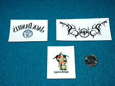 Collectable Lot : CAPTAIN MORGAN + BACARDI + JACK DANIEL'S @ Tattoos & Sticker