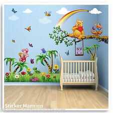 Winnie The Pooh Wall Stickers Animal Owl Tree Nursery Baby Kids Room Decals Art