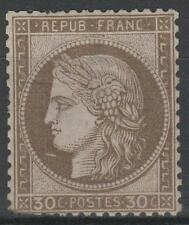"""FRANCE STAMP TIMBRE  N° 56 """" CERES 30c  BRUN 1872 """" NEUF x B A VOIR  N702"""