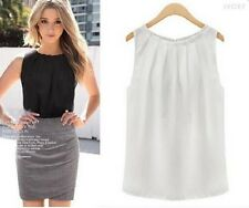 Fashion Women Vest Summer Loose Solid Sleeveless Casual Tank T Shirt Blouse XL