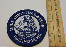 US Frigate Ship Constellation Embroidered Souvenir Patch Baltimore MD Vintage