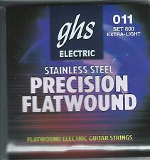 GHS 800 Precision Flatwound electric guitar strings, Extra Light .011-.046