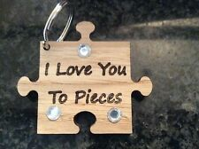 Jigsaw Love You To Pieces Key Ring