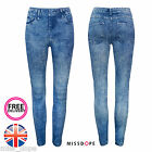 NEW DENIM LOOK SLIM LEGGINGS JEGGINGS JEANS STRETCH SKINNY WOMENS LADIES 8 10 UK