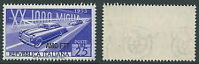 1953 TRIESTE A AUTO MILLE MIGLIA FILIGRANA LETTERA MNH ** - P22-4