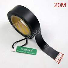 20m - 22mm Wide Seam Sealing Tape - 2 Layer for Waterproof Fabrics Black