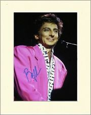 BARRY MANILOW COPACOBANA BERMUDA TRIANGLE PP MOUNTED 8X10 SIGNED AUTOGRAPH PHOTO