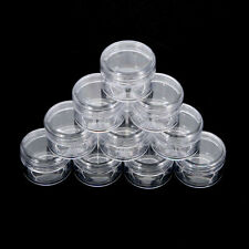 10X Cosmetic Empty Jar Pots Eyeshadow Makeup Cream Lip Balm Container NEW  Clear
