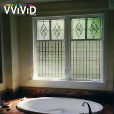 "36"" x 24"" VViViD White Dash Frosted Privacy Window Vinyl Film Home Decor Glass"